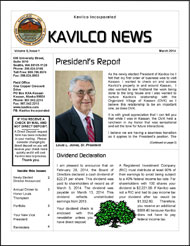 2014 Kavilco March Newsletter.